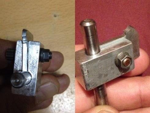 Útil para fresado circular de rueda trasera en moto de radiocontrol.