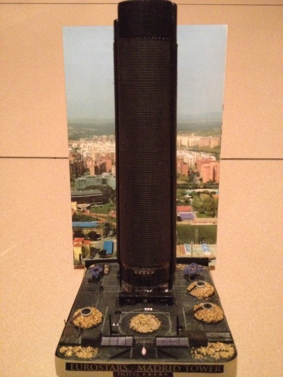 Prototipo de la maqueta a escala del Hotel Eurostars Madrid Tower 5*