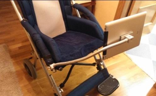 Acople especial diseñado por Idearte3D para silla de Ortopedia.